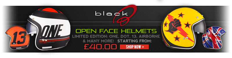 Black Open Face Helmets